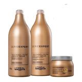 Loreal Absolut Repair Combo Shampoo + Acond + Mascara 500ml