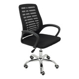 Cadeira De Escritório Trevalla Tl-cde-34-1  Preta Con Estofado Do Mesh