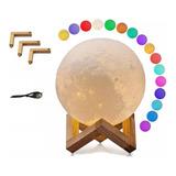 Lampara Luna 3d Moon Lamp Light Tactil Control
