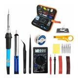 Set Electricidad Herramientas Manuales Electronica Soldador