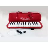 Flauta Melodica Con Funda 32 Notas A Piano Ramallo Roja