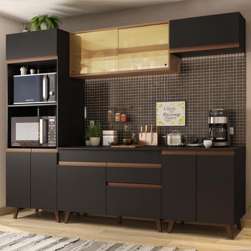 Cozinha Completa Madesa Reims 260002 Com Armário E Balcão