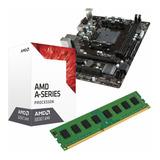 C12 Combo Actualizacion Amd Dual Core + Mother + 4gb Mexx