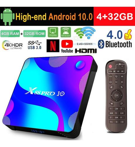 Tv Box Android10.0 4gb+32gb Bluetooth Smart Tv Decodificador
