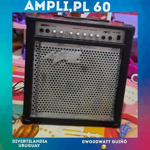Amplificador De Guitarra Mega Pl60 Con Reverb De Resortes