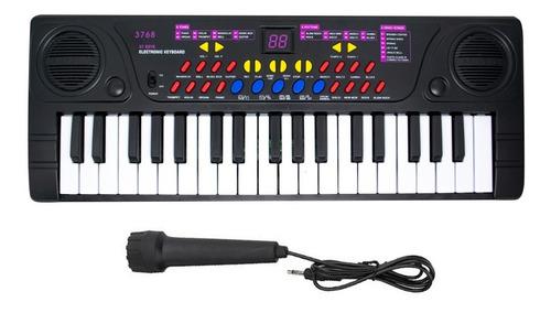 Teclado Organo Electrónico Con Micrófono Piano 37 Teclas