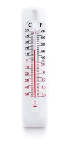 Termometro Ambiental De Plastico Silver Line De Pared.°f /°c
