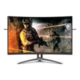 Monitor Gamer Curvo Aoc Agon Ag323fcxe Led 32  Preto 100v/240v