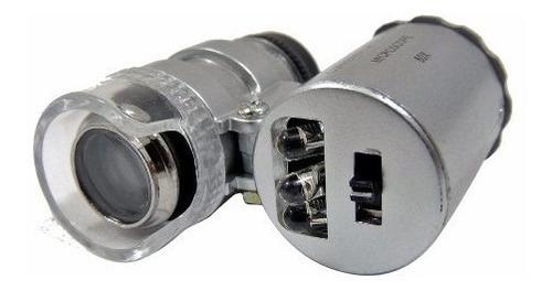 Microscopio Mini Con Led Y Luz Uv Ajustable 60x Celular Obi