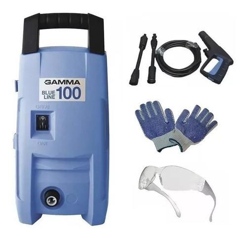 Hidrolavadora Gamma 100bar Auto Stop 1200w Blue Line + Guantes + Gafas Garantia 2 Años