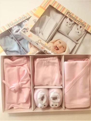 Set 5 Piezas Bebe Recién Nacido Puro Algodón + Caja Regalo