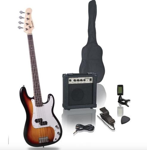 Pack De Bajo Scorpion Psb-200bs + Amplificador + Accesorios