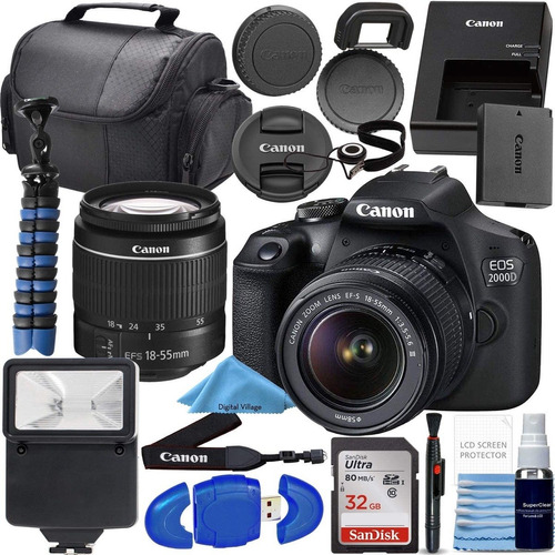 Camara Canon Eos 2000d Modelo T7 Con Practico Kit / Nuevo /