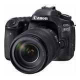 Canon Eos Kit 80d + Lente 18-135mm F/3.5-5.6 Is Usm Dslr Color  Negro