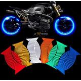 Cintas Reflectivas Fluorescente Para Aro De Moto Auto