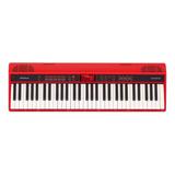Teclado Musical Roland Go:keys Go-61k 61 Teclas Vermelho