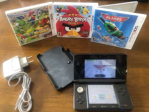 Nintendo  3ds Black + 5 Juegos Originales