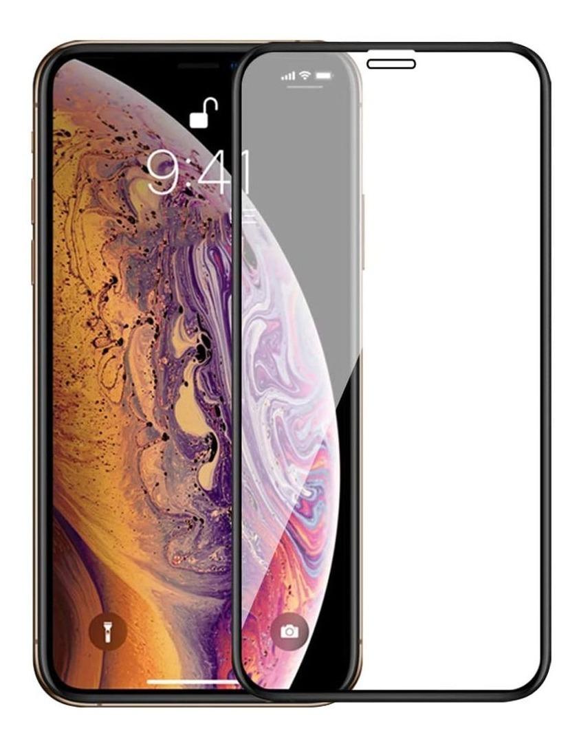 VIDRIO TEMPLADO 4D IPHONE XS MAX / 11 PRO MAX NEGRO