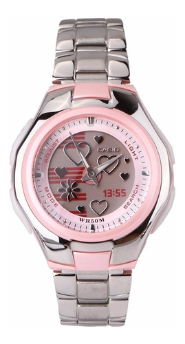 Reloj Dama Casio Lcf-10d-4a Poptone Analago Digital Original