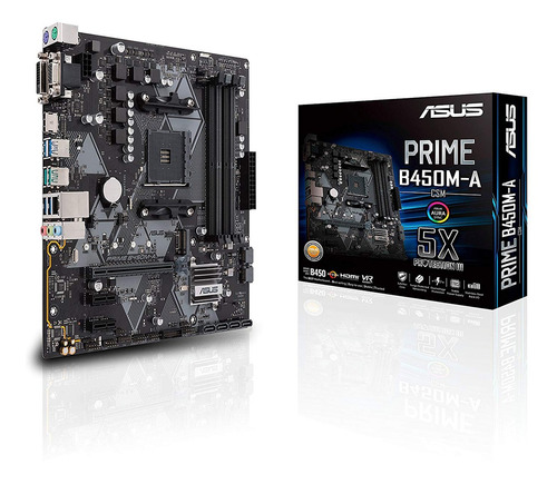 Motherboard Asus Prime B450m-a/csm Am4 Ddr4 M.2