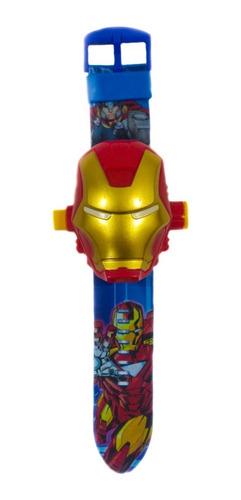 Reloj Digital Niños Proyector 24 Imágenes, Iron Man