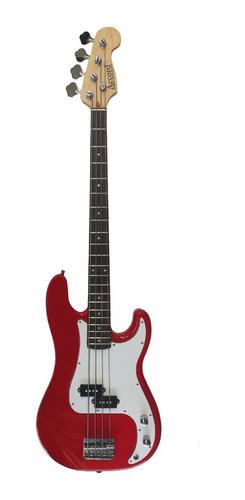 Bajo Electrico Accord Precision Bass Rojo  + Funda + Cable