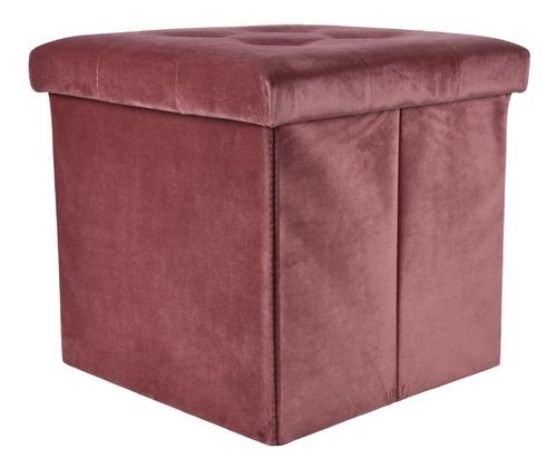 Baúl Con Asiento Color Rosa Viejo Begônia