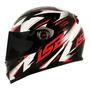 Capacete Para Moto Integral Ls2 Draze Black E Red Tamanho L Original