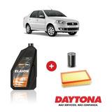 Cambio De Aceite 10w40 Y Filtros Para Fiat Siena