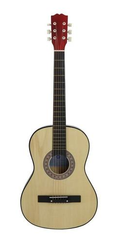 Guitarra Acústica De Madera. Con 6 Cuerdas Ideal Para Niños.