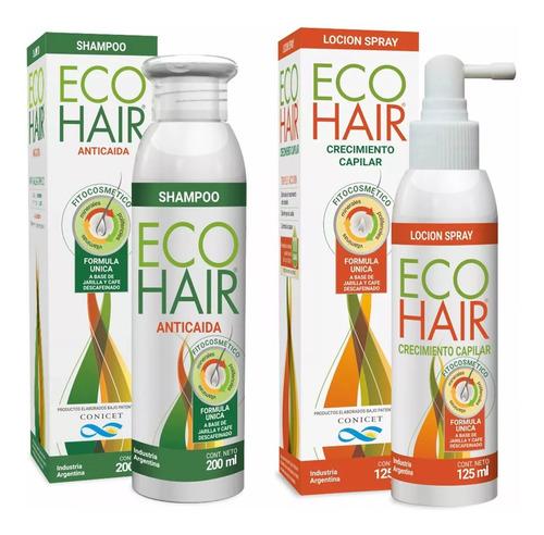 Eco Hair Anticaida Crecimiento Cabello Combo  Locion + Shampoo