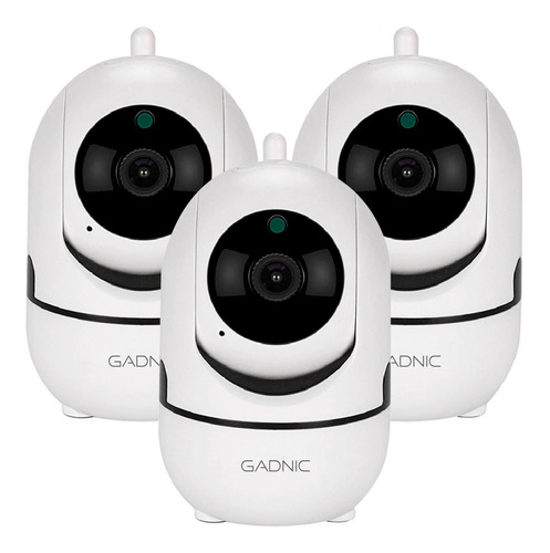 Kit 3 Camaras Seguridad Ip Motorizado Wifi Vision Nocturna
