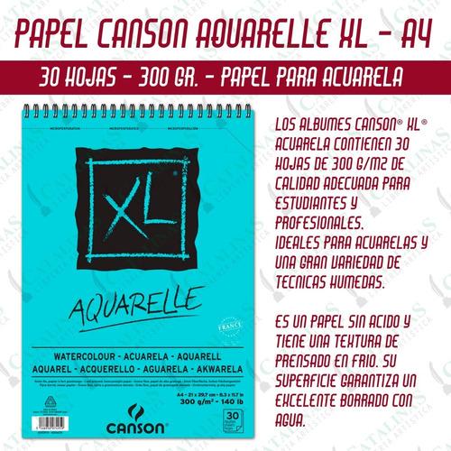 Block Canson Xl Aquarelle A4 300 Grs 30 Hojas Microcentro