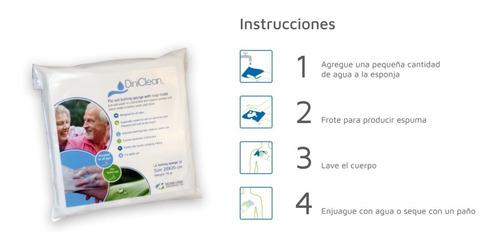 Paños Jabonosos Esponja De Baño Dini Clean (baño Fácil) X200