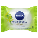 Sabão Em Barra Nivea Hidratante Erva-doce & Óleos De 85 G