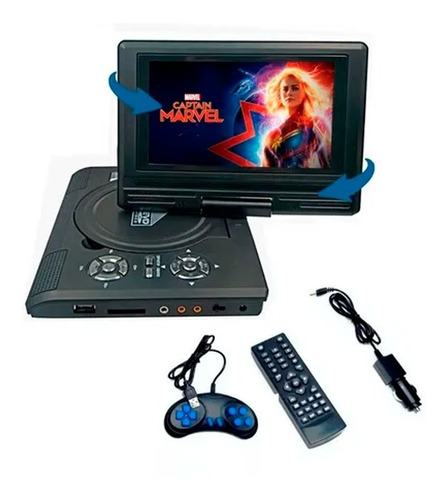 Dvd Portatil Usb 7,8 Usb Game Mp3 Radio Mp4 Tv Player