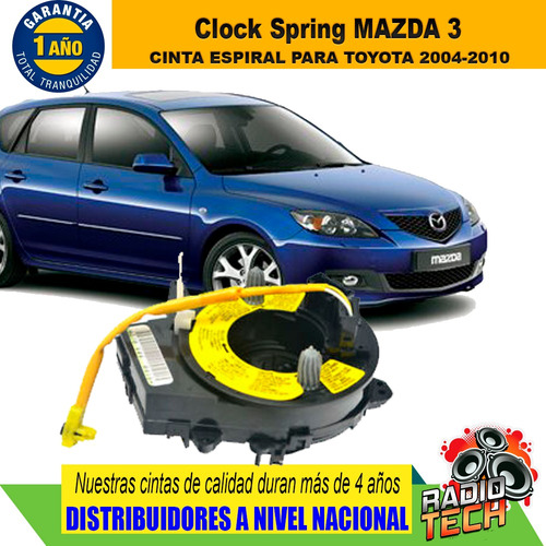 Cinta Clock Spring Mazda 3 - Mazda 6 - Mazda Bt50  Mazda 2 Foto 2