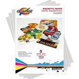 Papel Imantado 15 Hojas Tamaño A4 Magnetico Marca Creaprint