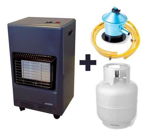 Estufa Gas James + Válvula + Garrafa 13 Kg Supergas Envíos