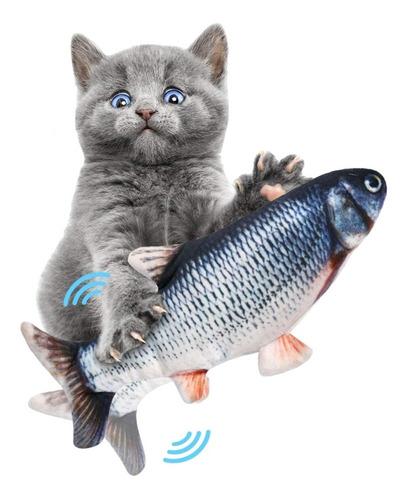 Pez Juguete Electrónico Para Mascotas, Gatos Con Movimiento