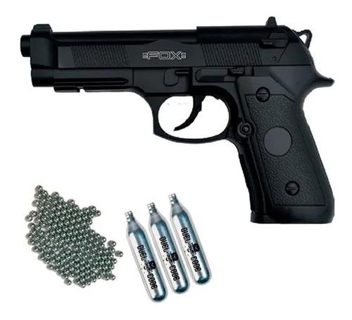 Pistola Fox Gas Comprimido Co2 C1911 Garrafas Balines