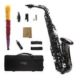 Saxofón Alto Negro Niquelado Cora By L. America + Accesorios