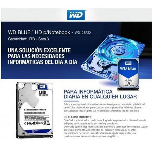 Disco Rígido Western Digital Blue 1 Tb. Notebook Oem
