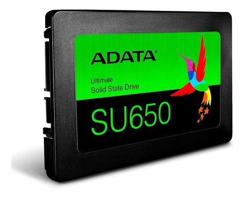 Disco Sólido Ssd Adata Su650 240gb 2.5 Sata Pc Notebook