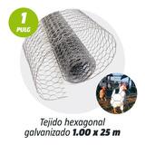 Tejido Malla Hexagonal Galv. 1' X 1.00 Mt X 25 Mts Kroner