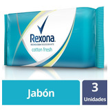 Rexona Jabon Tocador 3 X 125g Cotton Fresh