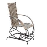 1 Cadeira Balanço Com Mola Texas Fibra Sintetica