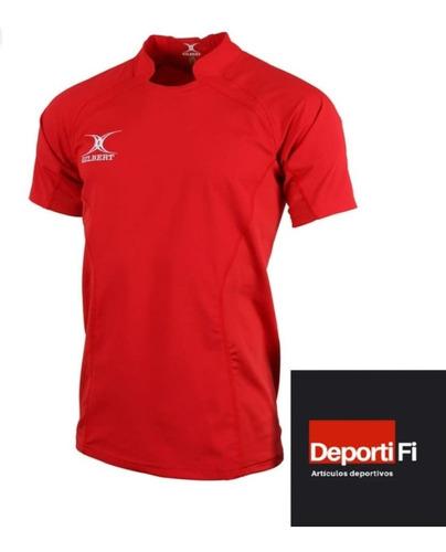 Remera Gilbert Rugby V Match Red Talle L Al 2xl #deportifi