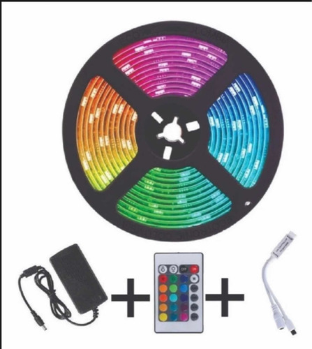 Cinta De Luz Led 5 Metros, Control, 16 Colores