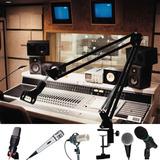 Braço Articulado Suporte De Microfone Mesa Profissional
